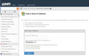 WHM multiple shared IP addresses